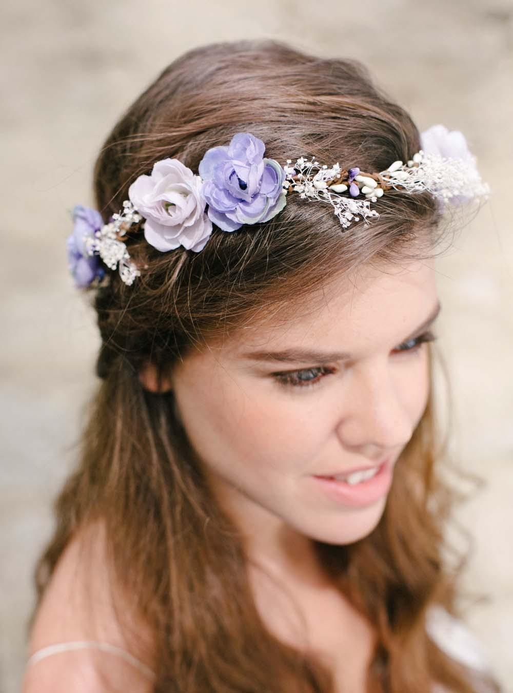 Couronnes De Fleurs Pour Cheveux Mariage Boheme