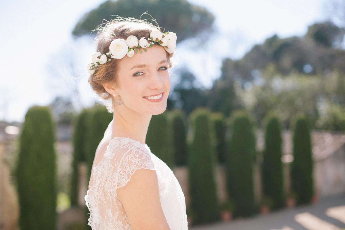 marié accessoire wedding couronne fleur boho