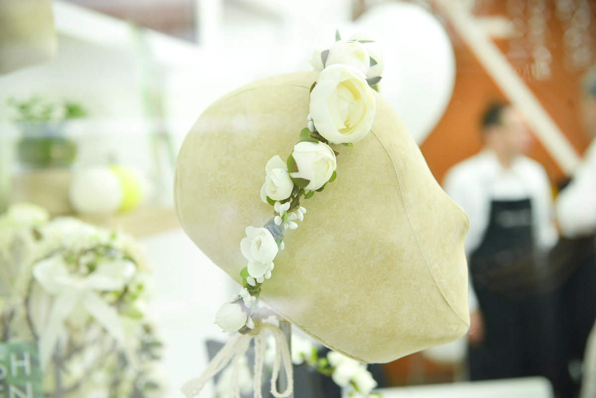 couronnes fleurs ivoire accessoire mariage