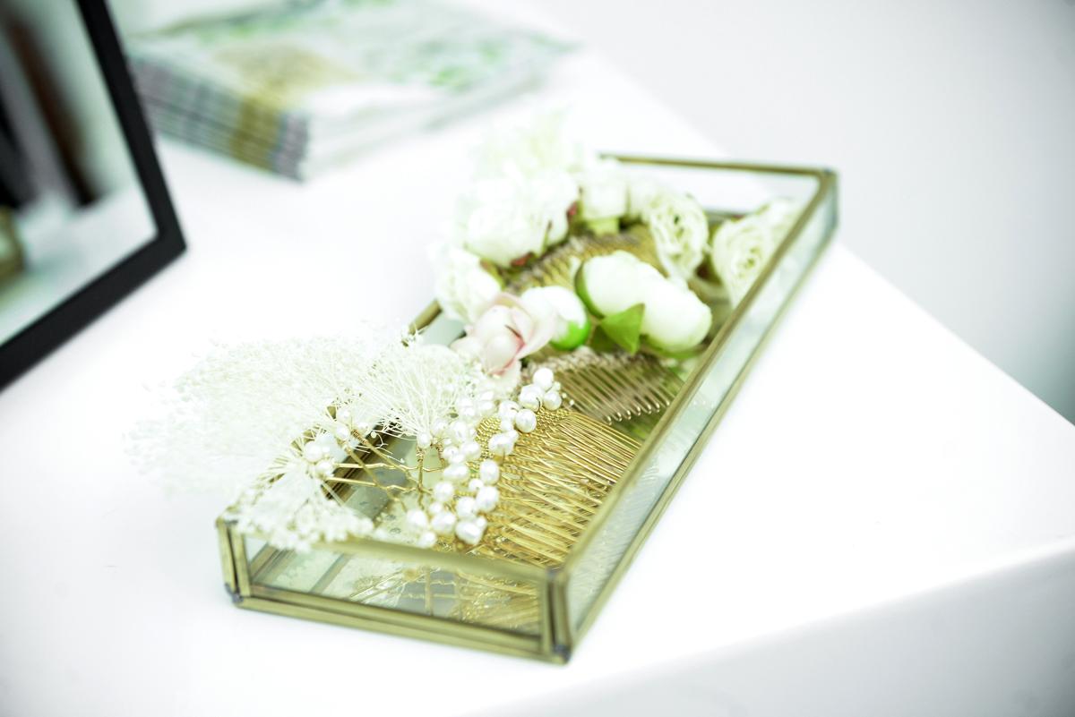 Accessoires fleurs ivoire mariage