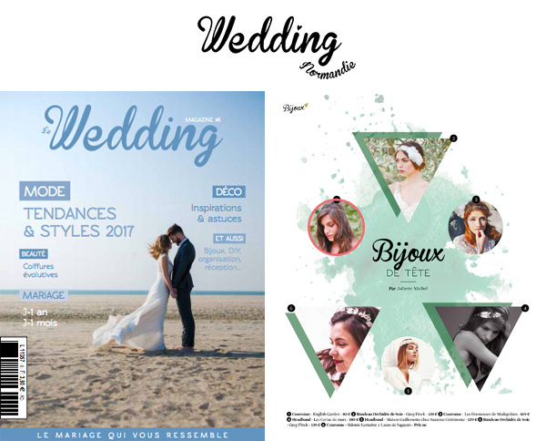 Article magazine Wedding Normandie juin 2016