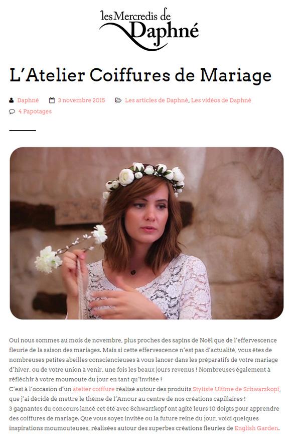 Article Les Mercredis de Daphné